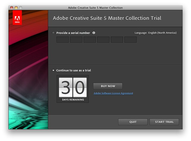 adobe creative suite trial
