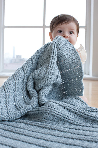 Textured Blanket from Little Crochet