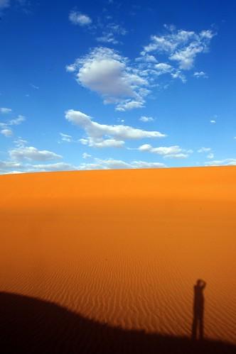 shadow sky sahara clouds algeria sand desert dune algérie