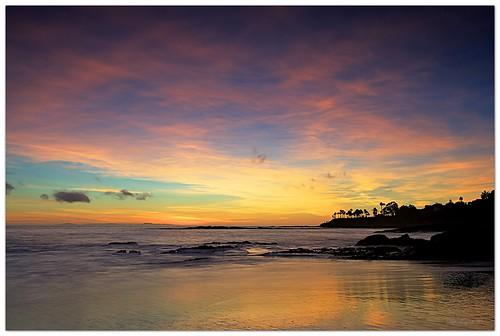 sunset sea coast laguna lagunabeach