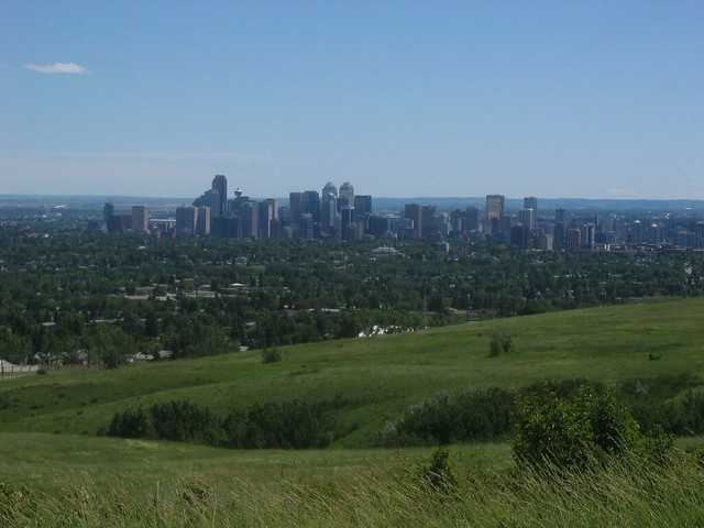 downtown Calgary from Nose Hill by CC user ateabutnoe on Flickr