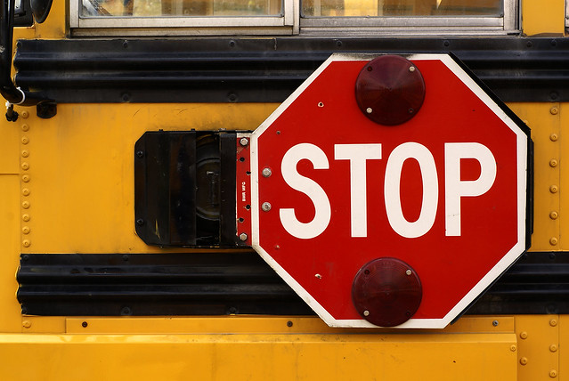 School Bus Stop Sign Flickr Photo Sharing
