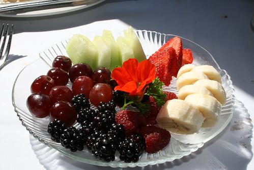 Des fruits en coupe ou en salade