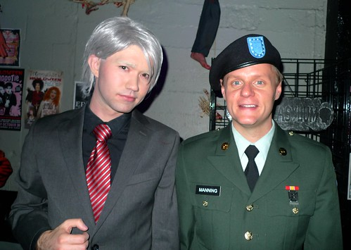 Julian Assange and Bradley Manning by besha