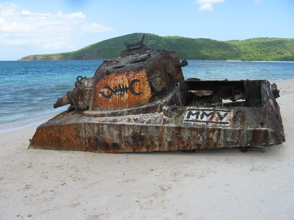 Tank on Flamenco Beach