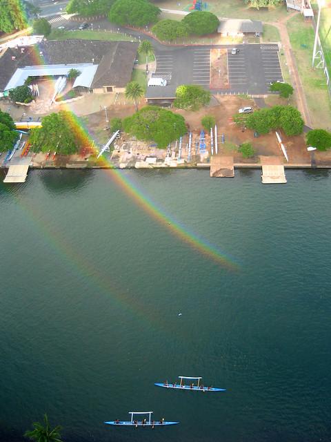 part of a 300-degree circular rainbow