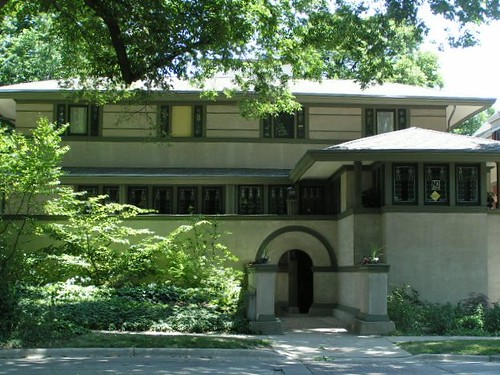 Frank wright thomas house 210 forest ave oak park for Prairie style house characteristics