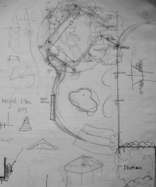 Plan for the cave & gloriette