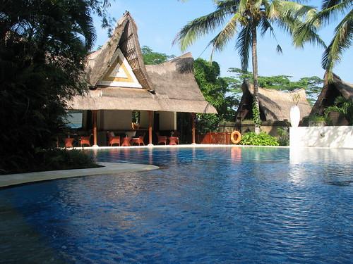 villa的公用泳池