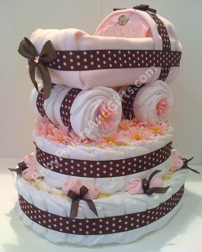 Cupcake Diaper Cake Baby Shower Gift