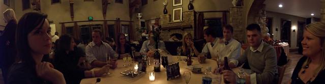 at dinner