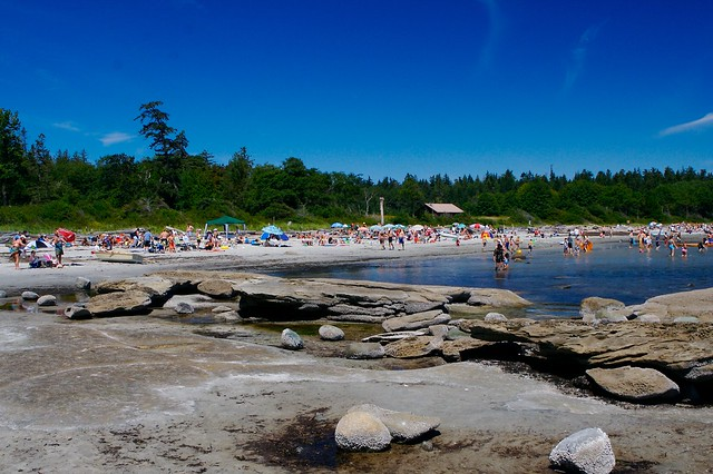 Camping At Hornby Island