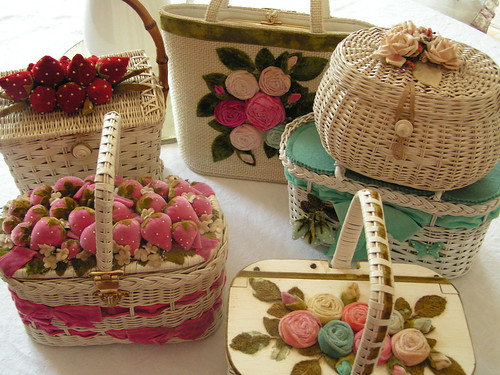 Wicker & Velvet Purses