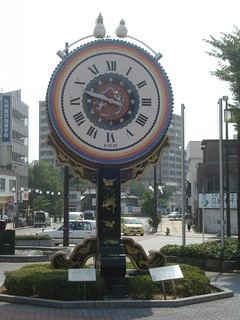 JR Kurume station clock