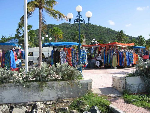 saturday market at marigot