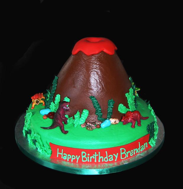 Dinosaur Volcano Cake Topper