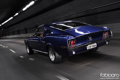 Dark Blue 1968 Fastback Mustang