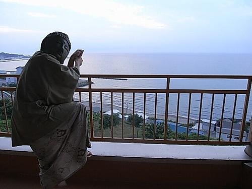 日本海を背に貞治