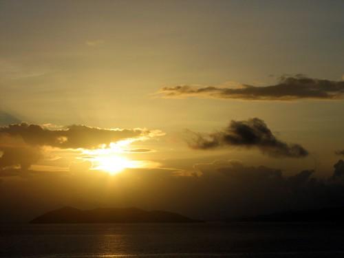 ocean sun sunrise caribbean stthomas usvirginislands