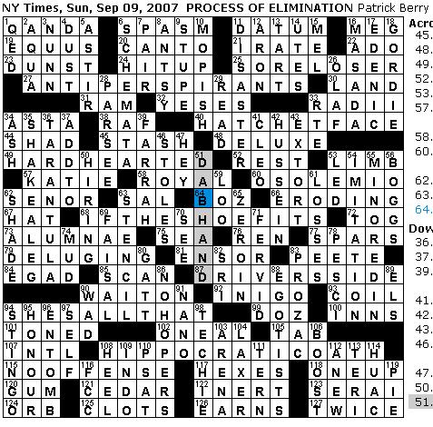 Rex parker does the nyt crossword puzzle sunday sep 9 for Soil 8 letters crossword clue