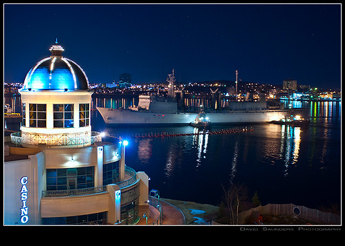 ocean nightphotography bridge sea copyright canada water night stars lights bay boat ship novascotia harbour casino atlantic maritime tug halifax sigma2470mm nikond90 davidsaunders anguslmacdonald dsc7166 davethehaligonian myshiphascomein