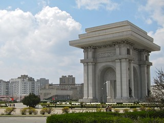 Image of Arch of Triumph near Pyongyang. monument architecture arch northkorea pyongyang dprk
