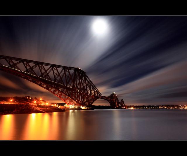 Forth Rail Bridge - Moonlight