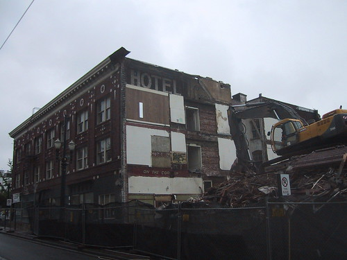 Danmoore Hotel Being Razed - 90 Year Old Signs Revealed