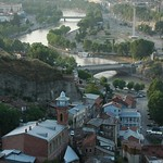 Aerial View of Old Town - Tbilisi, Georgia