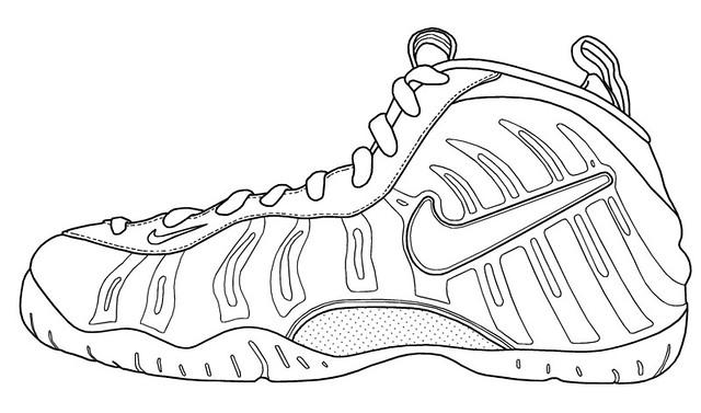 Nike Shoe Outlines