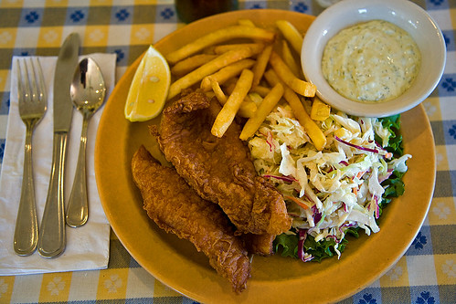 Fish and Chips at the Dipsea Cafe