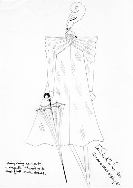 Original Sketch by Zandra Rhodes