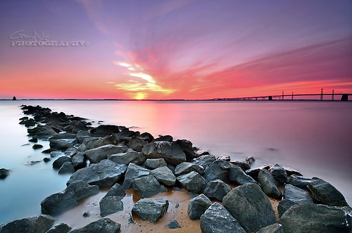 seascape beach rock clouds sunrise landscape nikon maryland explore filter nd frontpage 1224mm sandypointstatepark d7000