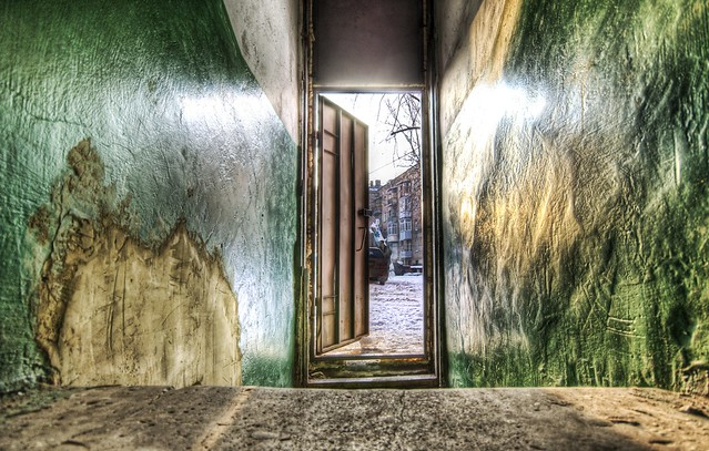 A View Out of the Front Door of my Kharkov Apartment