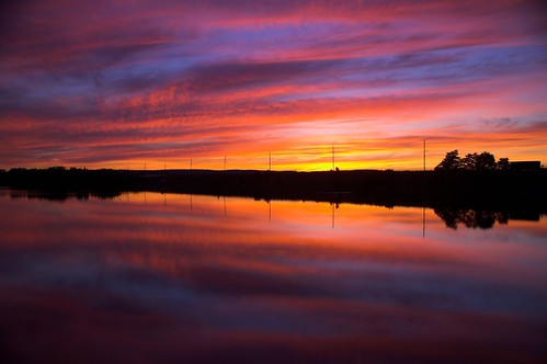 sunset reflection water colors tag3 taggedout clouds highway tag2 tag1 windsor bayoffundy lightpoles causeway novescotia