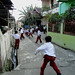 Anak-anak bermain bola di jalan : Childrens playing football on the alley. photo credit by Ardian