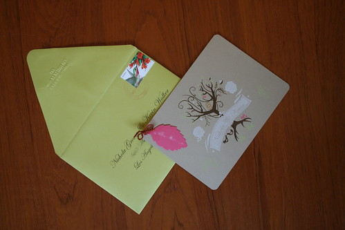 envelope and main card