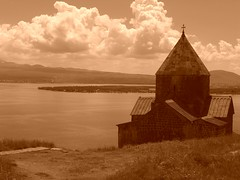 Astvatsatsin Church on Lake Sevan, Armenia