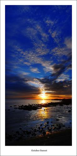 sunset sea sky panorama sun reflection beach clouds ilovenature seaside lancashire lytham casio fairhaven fylde exp600