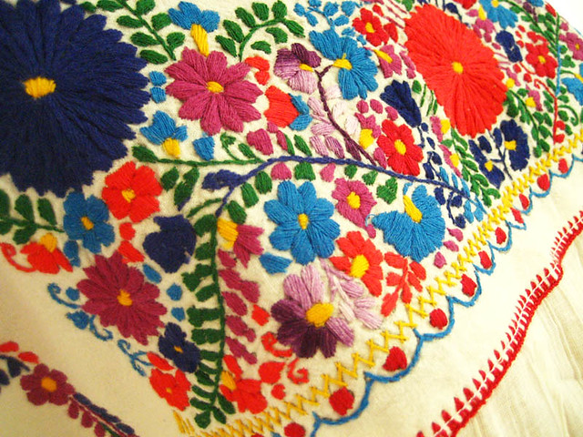 Colorful mexican embroidery flickr photo sharing