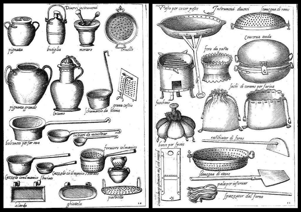 La antigua cocina del renacimiento taringa for Utensilios de cocina antiguos con nombres