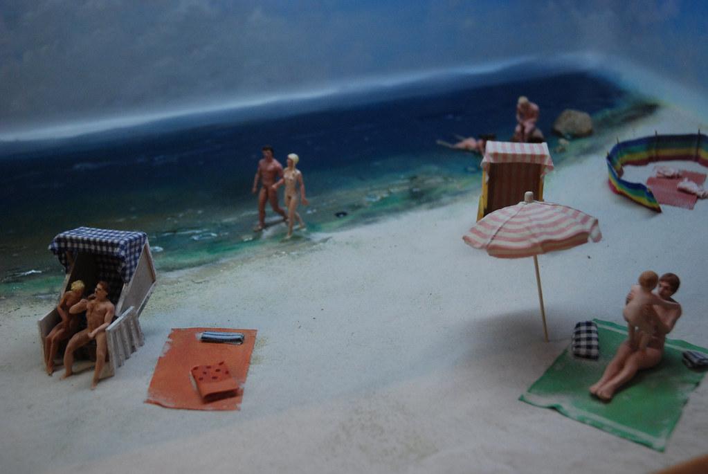 Nudism diorama