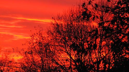 sky fall sunrise october colorful