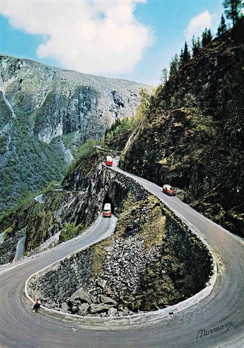 Norge: Måbødalen. Ruten Eidfjord - Fossli - Geilo
