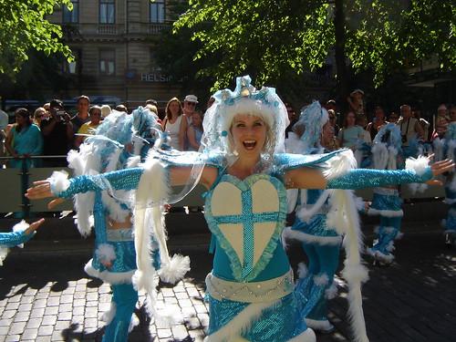 Samba parade in Helsinki