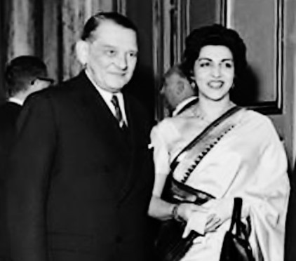 President Iskander Mirza with his wife Naheed
