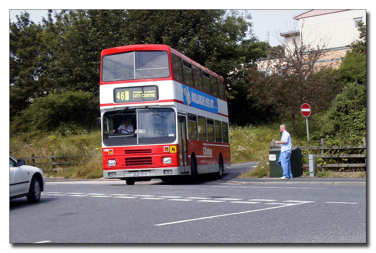 Plymouth Citybus 182 G621OTV