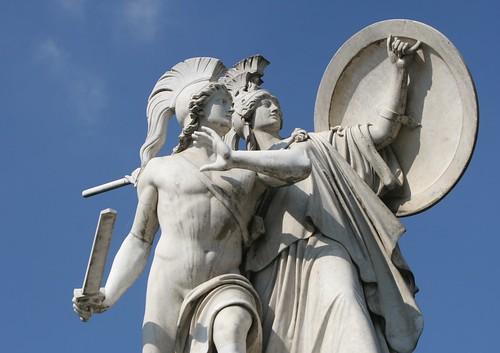 Athene hilft dem Krieger