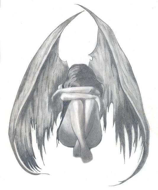 Sad Angel Paintings Sad Angel Flickr Photo