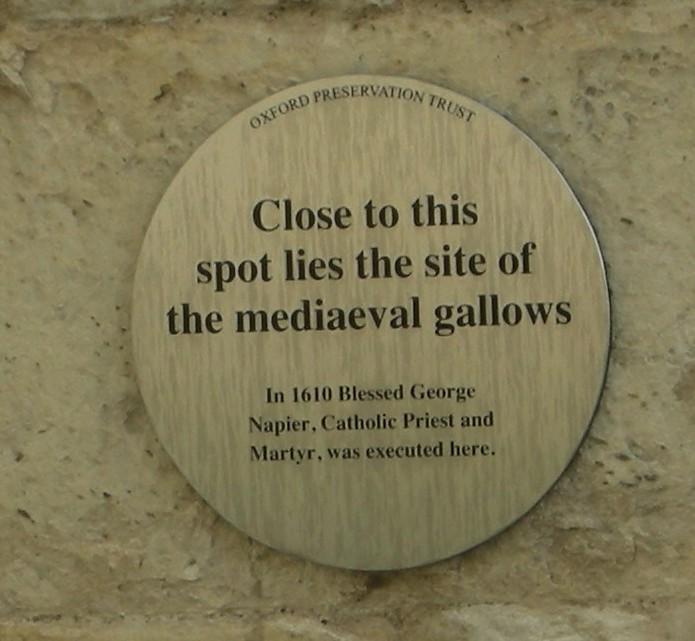 Photo of George Napier brass plaque